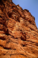Path to the Monastery 43 (David OMalley) Tags: world city heritage rose rock stone site desert path petra siq carving unesco east jordan monastery arab middle carvings jordanian monumental jebel nabatean nabateans hewn maan almadhbah