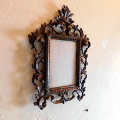 Vintage Victorian Style 4 x 6 Ornate Picture Frame - Cast Iron w/ Copper Wash (karalennox) Tags: vintage victorian frame copper castiron etsy ornate pictureframe