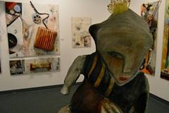 """Rooted in Intuition Series 2"" (she wolf-) Tags: art mi washington gallery n lansing sq 119 6400 lansingmi 517 374 48933 lansingartgallery artistreceptionatgallery rootedinintuitionseries2paintingsandsculpturesbydianemariekramer may3june30th2016"