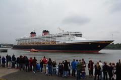 At last (quintinsmith_ip) Tags: sea people river fun ship down tourist disney passenger passing shipping southshields waltdisney disneymagic rivertyne