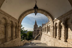 Budapest III (Alex Schubert) Tags: old trip morning blue sky sun bird castle sunshine sunrise canon eos austria early town is spring fisherman hungary tripod budapest symmetry fishermans bastion hu buda fischer bastei aut 6d strict 1635 fischermann