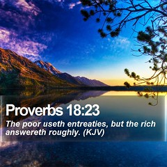 Daily Bible Verse - Proverbs 18:23 (daily-bible-verse) Tags: cross religion purpose amen jesusislord dailybread