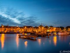 Spaarne Haarlem (Arjan de Wijs) Tags: city sunset sky holland haarlem netherlands spaarne canal rjdewijs
