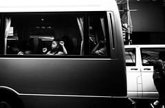 Waiting (Kunotoro) Tags: china street leica city people urban bw streets monochrome asian photography hongkong blackwhite asia chinese streetphotography style streetlife soe asiapeople m246 stphotographia streetpassionaward blackwhitepassionaward flickrtravelaward