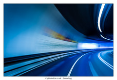 Tunneling (Phil Durkin) Tags: road longexposure summer speed liverpool drive evening driving tunnel birkenhead curve newbrighton thewirral