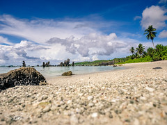 Paradise Found (Laith Stevens Photography) Tags: ocean travel sea vacation holiday seascape beach clouds landscape warm relaxing olympus palmtrees tropical pinnacles nauru centralpacific omdem1 1240mmf28pro