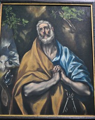 """Les Larmes de St Pierre"", c. 1605, El Greco, sacristie de l'glise de l'hpital de Tavera (XVIe sicle), Tolde, Castille-La Manche, Espagne. (byb64) Tags: city portrait church painting sadness town spain europa europe retrato iglesia kirche eu ciudad peinture chiesa espana toledo igreja stadt panteon tableau 16th altstadt espagne glise ritratto renaissance stpierre ville sanpedro spanien 17th pintura spagna tristesse citta ue cinquecento panthon elgreco cuadro rinascimento lerma hpital oracion castillalamancha renacimiento vieilleville tolde medinaceli tavera duquedelerma sacristia igrexa prire cascohistorico xviie sacristie xvie hospitaldetavera castillelamanche legreco cardenaltavera leslarmesdestpierre sanpedroenlagrimas"