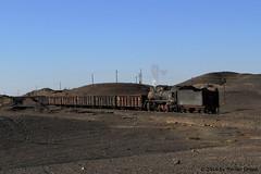 I_B_IMG_7446 (florian_grupp) Tags: china railroad train landscape asia mine desert muslim railway steam xinjiang mikado locomotive ore js steamlocomotive 282 opencastmine yamansu