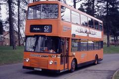 SBL MB7 EUS102X Pollok 1995 (Rightgoodmotor) Tags: sbl strathclde buses mb7 eus102x mcw metrobus alexander scottish scotland bus glasgow