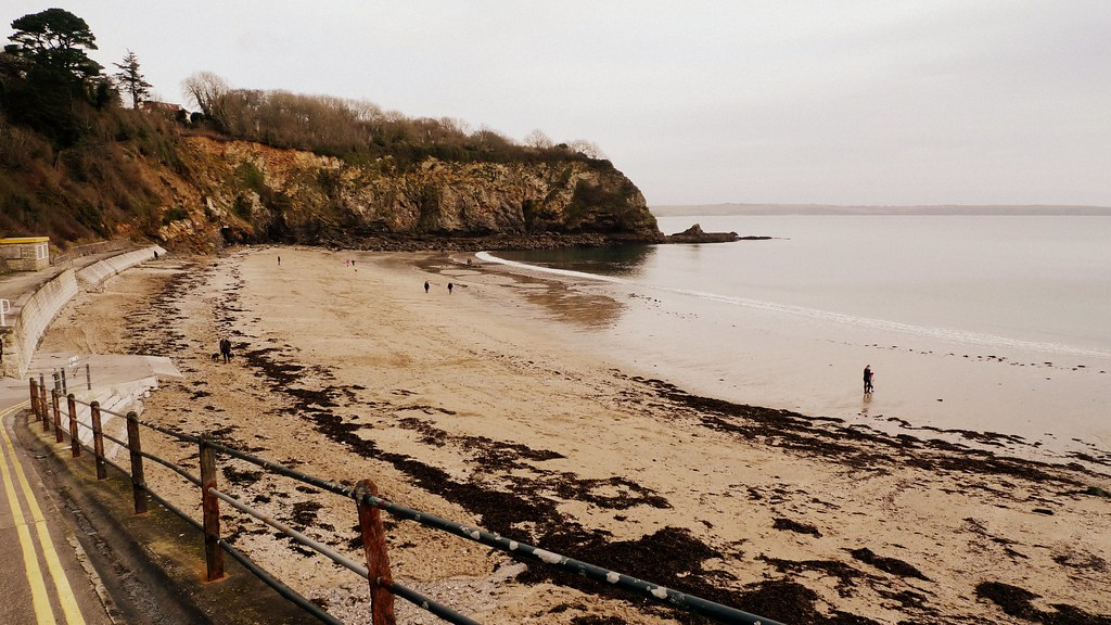 Porthpean Beach In Winter