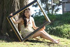 Garden Nymph (Amanda Jackson sb) Tags: santa tree feet grass foot toes dress bare picture lagoon barbara frame ucsb