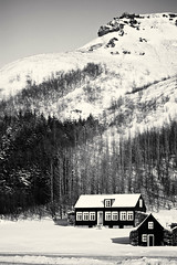 back in time (JorunnSjofn) Tags: old trees houses winter mountain snow nature canon iceland 60mm 2012 backintime skogar jorunnsjofn