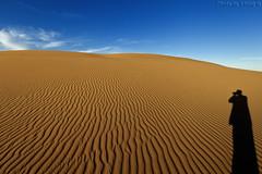 My Shadow (TARIQ-M) Tags: shadow sky cloud texture sahara landscape sand waves pattern desert ripple patterns dunes wave ripples riyadh saudiarabia   canoneos5d      goldensand             ef1635mmf28liiusm canoneos5dmarkii       tariqm  tariqalmutlaq
