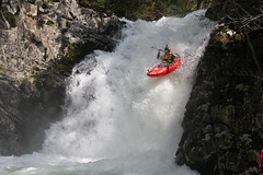 First drop on the Nuno Bei Kayaking extreme Japan