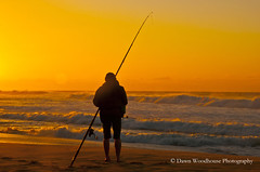 Ready to Fish (Dawn Woodhouse) Tags: beach sunrise person fishing australia nsw recreation garie wow1