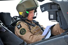 Prince Harry on a Training Exercise for Apache...