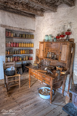 Farmhouse Kitchen (Ellen Yeates) Tags: ranch old city usa history kitchen farmhouse austin ellen foods log cabin texas near farm johnson historic canned jar inside preserved hdr jars lbj sauer farmstead sauerbeckmann yeates bechmann