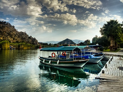 Dalyan, Turkey (Nejdet Duzen) Tags: trip travel cloud turkey boat canal day cloudy trkiye kanal sandal dalyan bulut turkei seyahat mula kyceiz