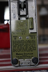 Bates Model B Wire Stapler, 1930's (blackthorne56) Tags: from b its lady wire model industrial head 1938 makes bates stapler brass staples cuts folds own 62 1933 tassle spool bostitch bends crimps