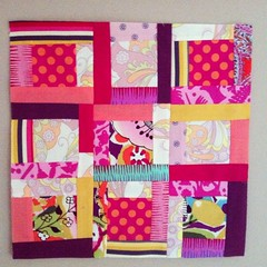 February block #2 for Christine (Kindred Crafters) Tags: log quilt bee logcabin blocks scraps patchwork quiltblock quiltblocks quiltingbee beeblock beeblocks