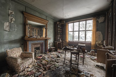 There's no friend as loyal as a book (odin's_raven) Tags: urban house abandoned book library exploring explorer books spooky manor raven hdr ue urbex odins talkurbex odinsraven abandonedmanorhouse