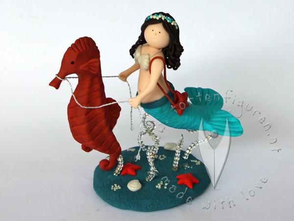) mit Seepferdchen (♥ Tortenfiguren.at ♥ Hochzeitstortenfiguren ...