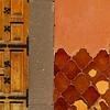 (msdonnalee) Tags: door muro wall tile mexico pared puerta terracotta doorway mexique porte entry stucco mexiko messico brokentile vintagetile photosfromsanmigueldeallende fotosdesanmigueldeallende