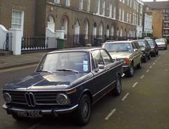 Friday 17th February, 2012 (Sim's pics) Tags: london ford mercedesbenz granada bmw bmw2002 hackney escort mkii w123 fordgranada 190e fordescortmkii w201