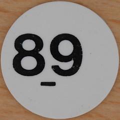 White Plastic Bingo Number 89 (Leo Reynolds) Tags: xleol30x squaredcircle bingoset26 89 number numberbingo xsquarex bingo lotto loto houseyhousey housey housie housiehousie numberset canon eos 40d 0sec f80 iso100 60mm sqset074 hpexif xxx2012xxx xxxtensxxx 80s