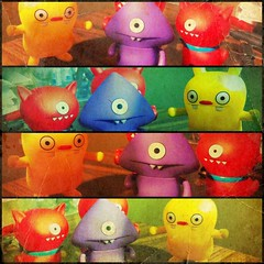 Monsters under my bed (Irene2005) Tags: test collage vintage monsters uglydolls uglies iphone hss iphoneography sliderssunday