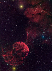 Jellyfish Nebula (kappacygni) Tags: night stars space cluster nebula astrophotography astronomy supernova phd gemini emission deepsky baader nebulosity ic443 starlightxpress eq6 supernovaremnant jellyfishnebula Astrometrydotnet:status=solved qhy5 Astrometrydotnet:version=14400 sxvrh18 ic444 tmb92ss astro:subject=ic443 bestastro astro:gmt=20120131t2340 Astrometrydotnet:id=alpha20120206835202
