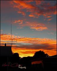 Suburban Sunrise (Mark-Cooper-Photography) Tags: orange silhouette clouds sunrise canon 28mm australia nsw 2711 hay f18 plains 550d ef28mmf18 t2i hayplains haynsw eos550d markcooperphotography