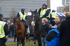 "Politie te Paard bij Demonstratie • <a style=""font-size:0.8em;"" href=""http://www.flickr.com/photos/45090765@N05/6902763801/"" target=""_blank"">View on Flickr</a>"