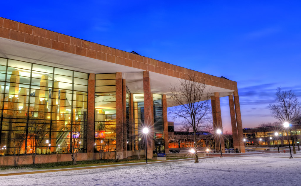 Duderstadt Center at twilight