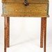 259. 19th Century Blue Painted Pine Desk