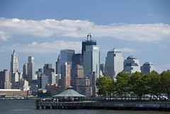 Pier A park in Hoboken, New Jersey. (dkjphoto) Tags: park nyc newyorkcity railroad travel bridge usa newyork tourism water station skyline america skyscraper river pier boat newjersey construction tour unitedstates walk manhattan worldtradecenter tourist gazebo walkway northamerica wtc hudson hoboken piera freedomtower dennisjohnson wwwdenniskjohnsoncom
