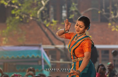 Portrait of Celebrating Pohela Falgun / first day of spring (Shabbir Ferdous) Tags: flowers light red portrait people orange woman color colour girl yellow festival female season de happy spring community singing dancing si arts traditions places dancer entertainment dresses ourworld change cheerful shari society saree sari songs 1418 bangladeshiphotographer falgun shabbirferdous canoneos1dmarkiv wwwshabbirferdouscom shabbirferdouscom ef70200mm28lisiiusm