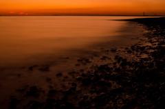 Fawley Sunset (Mark J Hall) Tags: longexposure sea seascape beach clouds landscape february 2012 gosport markhall stokesbay 35mmdx nikond7000