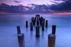 Alignment (East Wind) Tags: longexposure sunset canon pier poles oldpier naplespier oldnaplespier dailynaturetnc12