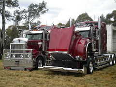 Heytesbury Kenworth's (KW BOY) Tags: show new tractor truck prime big model transport stock australian lorry rig hauling express feed conventional castlemaine mover trucking kw kenworth haulage 2011 heytesbury t909 t908