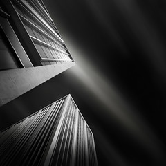 a path to the sky II - the sky beyond (Julia-Anna Gospodarou) Tags: longexposure sky blackandwhite bw building tower monochrome architecture clouds square nikon perspective athens greece le tall streaks tamron highlight 2012 upwards manfrotto modernbuilding hoya curtainwall glasswall blacksky nd400 manfrotto055xprob athenstower bw106 nikond7000 juliaannagospodarou siruik20x tamronaf18270mm3563pzd