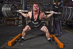 "Squatting at Elitefts with Dave Tate running the monolift • <a style=""font-size:0.8em;"" href=""http://www.flickr.com/photos/77416569@N07/6962464428/"" target=""_blank"">View on Flickr</a>"