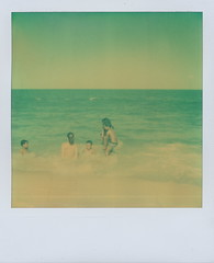 beach scenes (3) (dfuster74) Tags: polaroid photography instant analogue atzfilm dfuster74