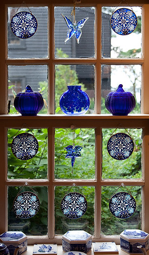 Window in blue