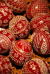 Traditional Romanian Easter painted eggs (Dragos Cosmin- Getty Images Artist) Tags: red food holiday abstract detail art chicken home colors beautiful closeup easter religious happy holidays colorful europe paint pattern symbol many background crafts painted traditional religion seasonal egg decoration culture shell objects polish made event romania eggs wax spirituality tradition spiritual fest eastern fragile christians regional moldova craftsmanship skill maramures bucovina chirstianity