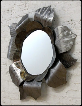 Power Flower Steel Mirror