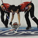 Lethbridge Ab.Ford Womans World Curling Championship 2012.Switzerland  Carman Schafer,Carman Kung.CCA/michael burns photo
