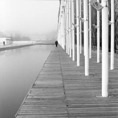 Lisboa, teclas (António Alfarroba) Tags: fog loneliness lisboa lisbon 120film lissabon lisbonne ritmo parquedasnações expo98 nevoeiro hasselblad501cm rithm