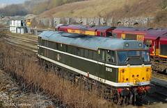 31190 / D5613, Peak Forest 24 March 2012 (jrs1967_1) Tags: 2 green forest bars diesel traction peak brush class british locomotive 31 railways hanson livery 31190 d5613