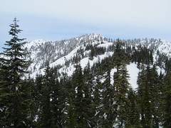 Salvation summits, true summit on left